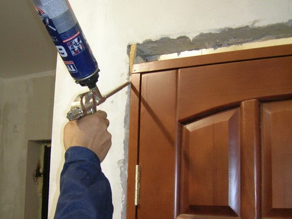 Как установить ламинированные двери фото