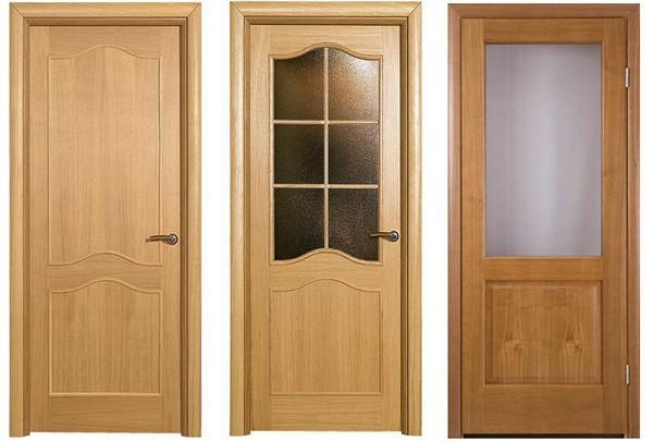 Характеристики шпонированных дверей