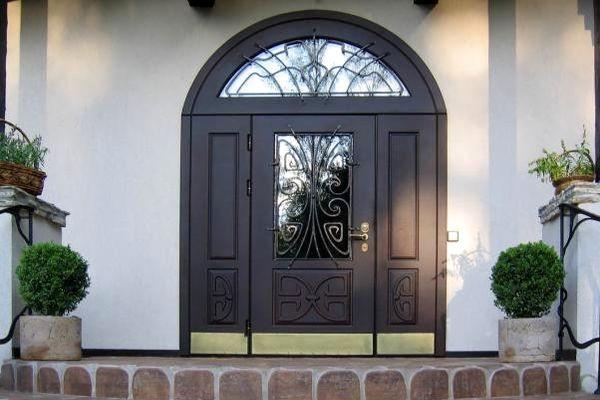 металлические распашные двери фото