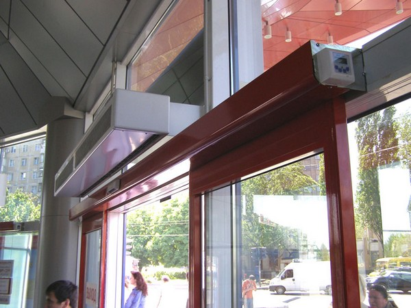 автоматические стеклянные двери фото