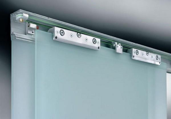 раздвижная система для стеклянных дверей фото