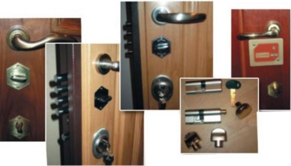 установка замка на металлическую дверь фото