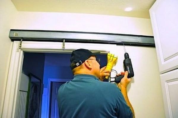 как установить сдвижные межкомнатные двери фото