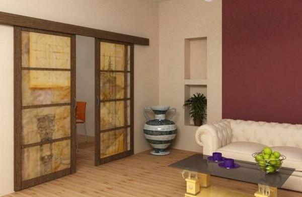 сдвижные межкомнатные двери фото