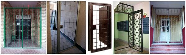 тамбурные решетчатые двери фото