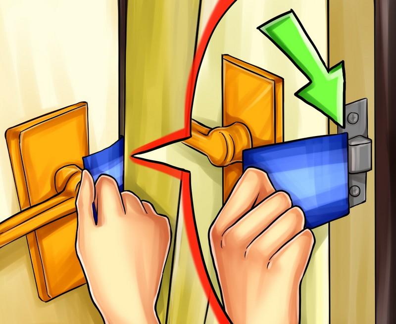 как открыть межкомнатную дверь без ключа фото