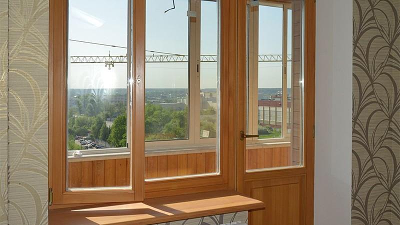 балконные двери деревянные фото