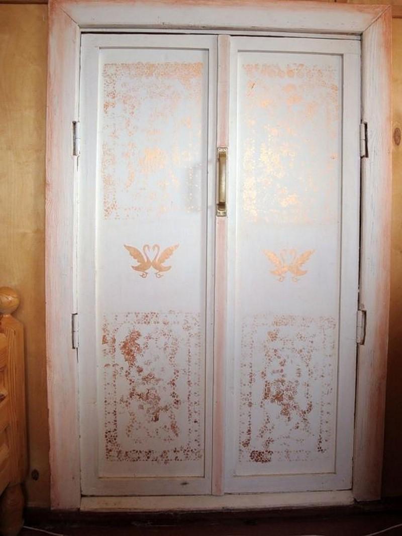 декупаж деревянной двери фото