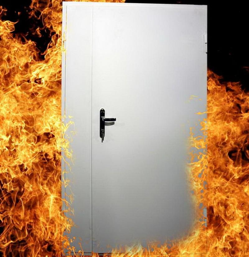 противопожарные металлические двери фото