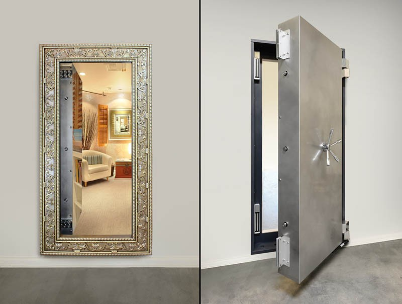 как сделать потайную дверь фото