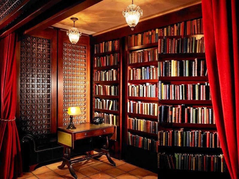 потайная дверь в книжном шкафу фото