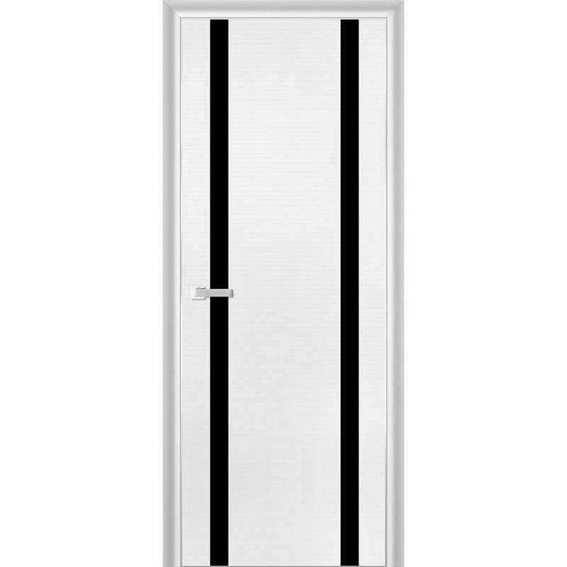 белая дверь с черными вставками фото