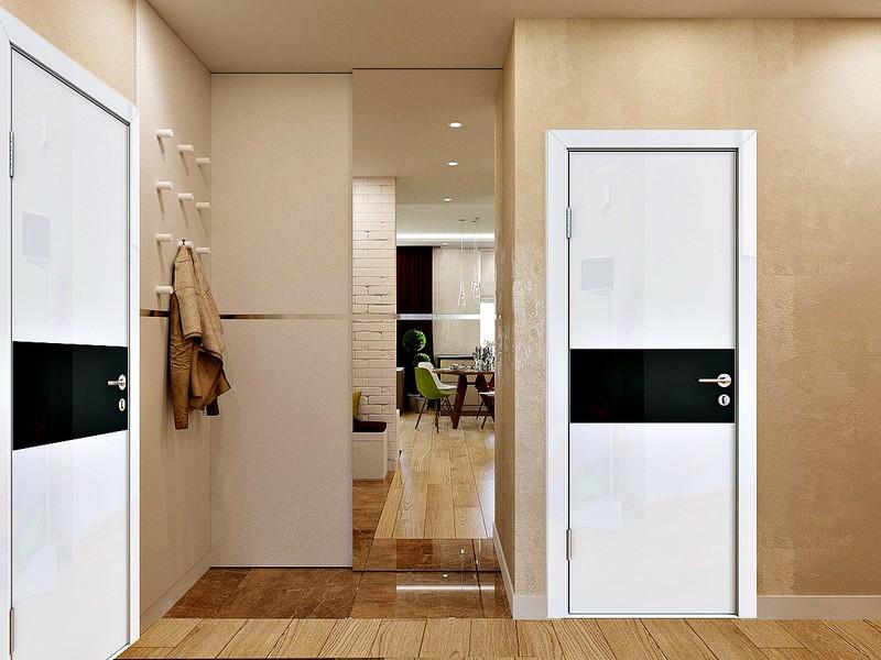 белые глянцевые двери фото