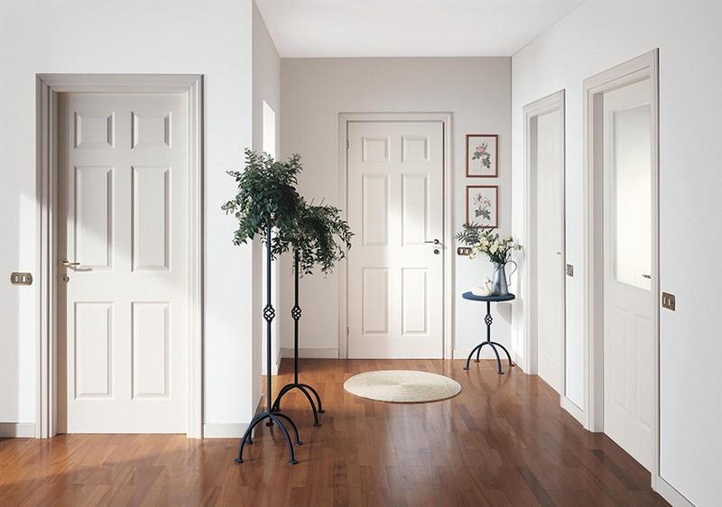 белые матовые двери фото