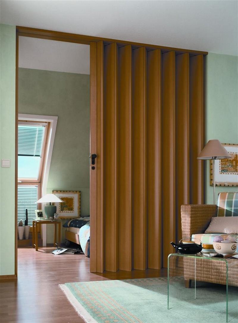 дверь гармошка в спальню фото
