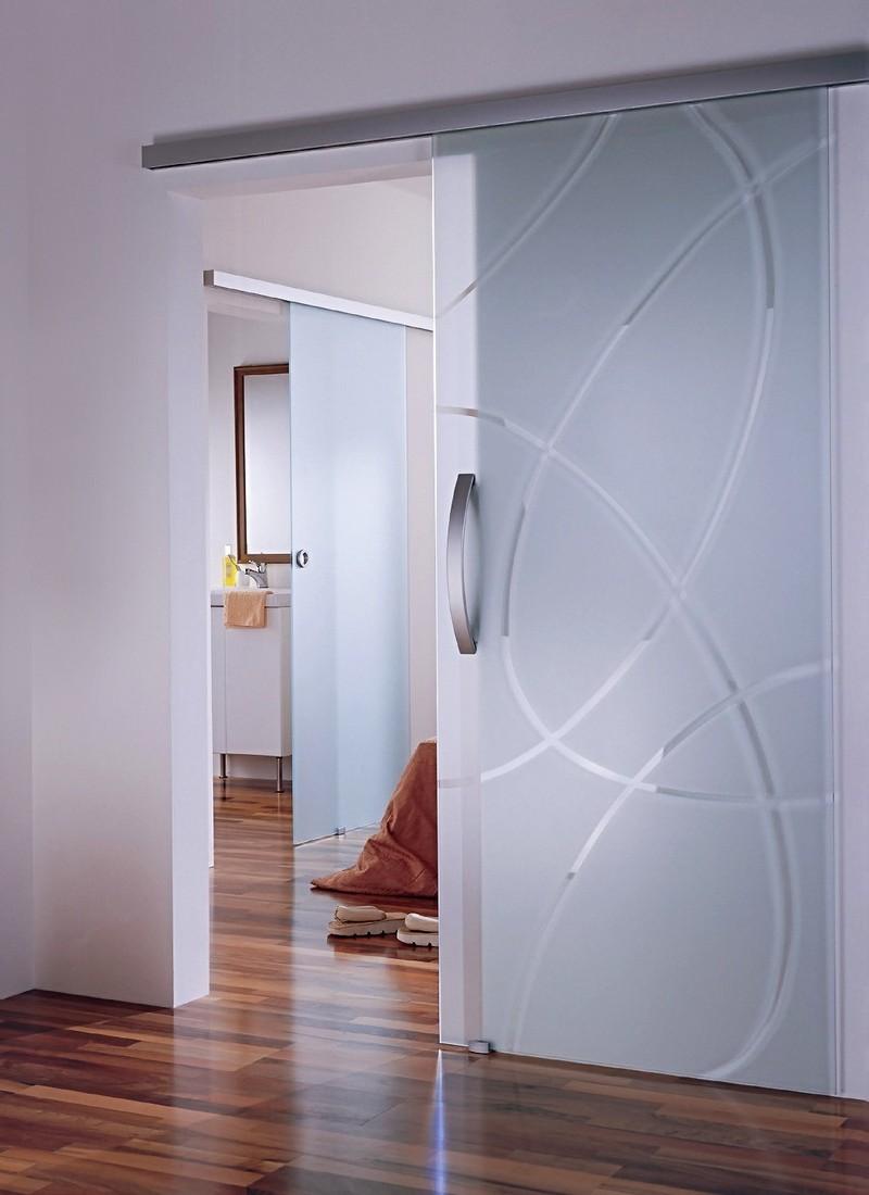 стеклянная дверь в спальню фото