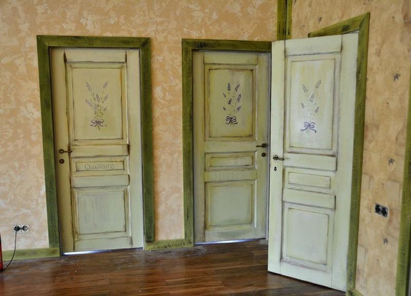 межкомнатные двери в стиле прованс фото