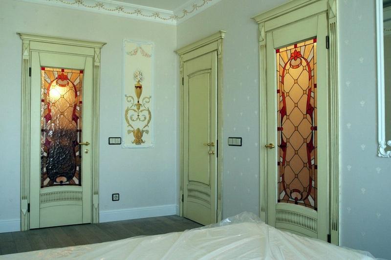 витражные двери в стиле прованс фото