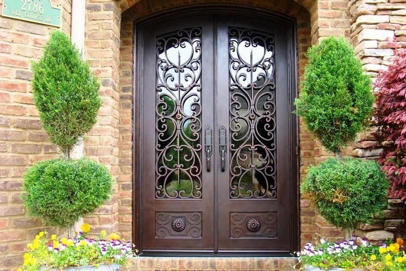 красивые кованые двери фото