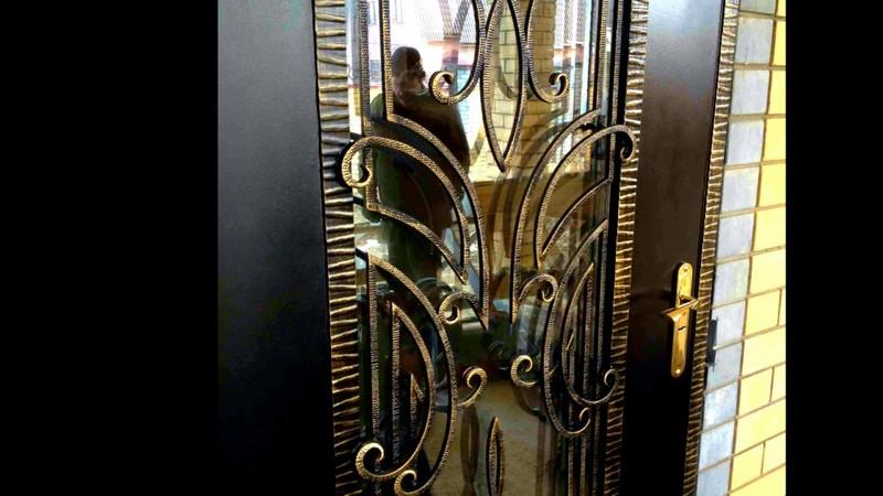 виды кованых дверей фото