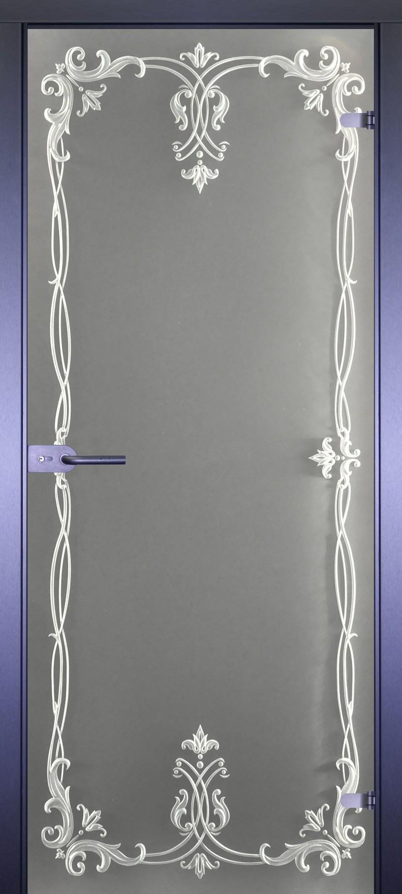 двери с рисунком на стекле фото