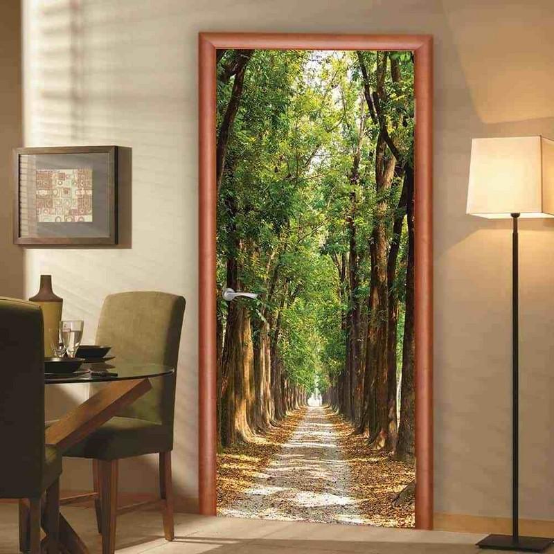 рисунок на двери с перспективой фото