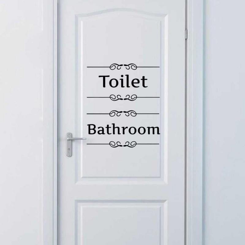 наклейка на дверь ванной фото