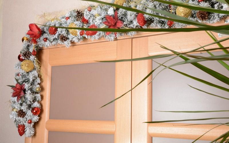 оформление двери к новому году фото
