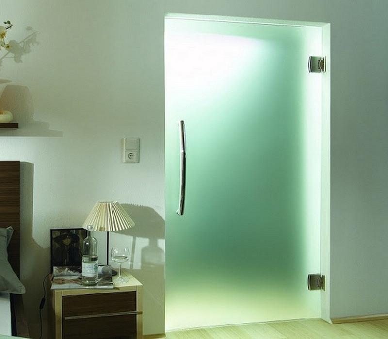 стеклянная влагостойкая дверь фото