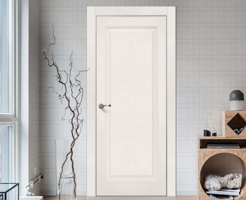 белые эмалированные двери фото