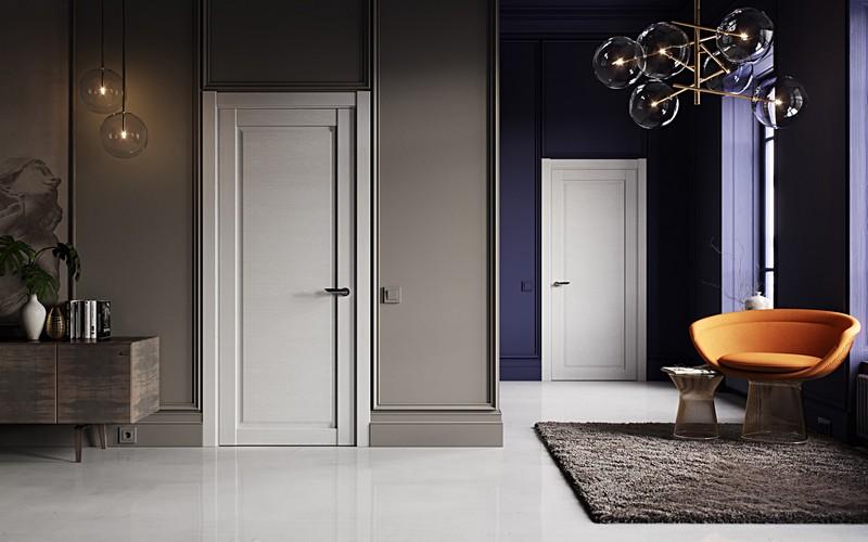 эмалированные двери в интерьере фото