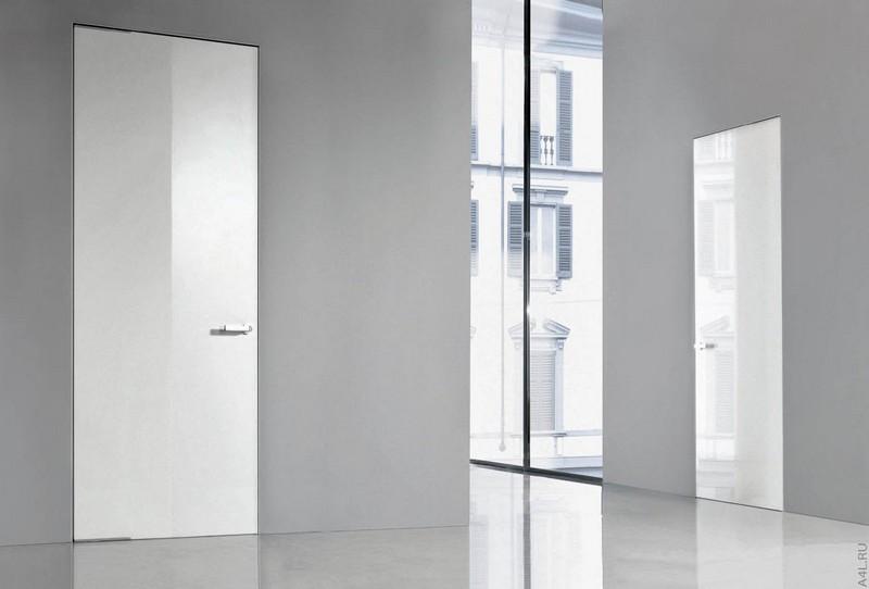 белые глянцевые межкомнатные двери фото
