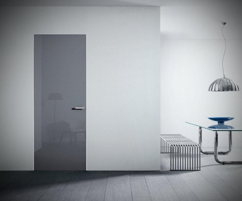 глянцевая дверь в минималистичном стиле фото