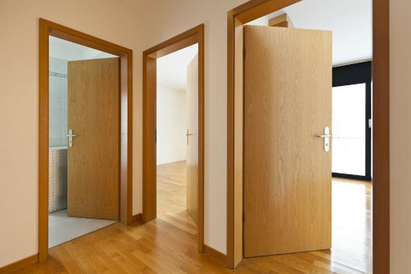 деревянная щитовая дверь фото