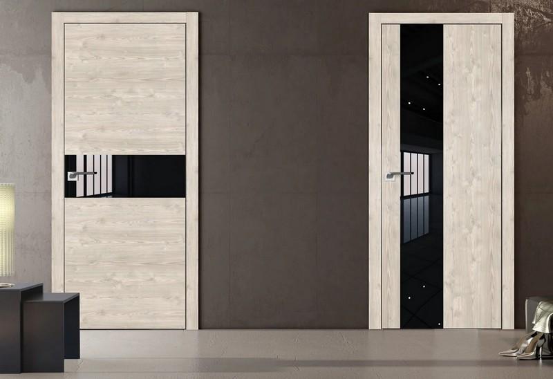двери со стеклянными вставками фото