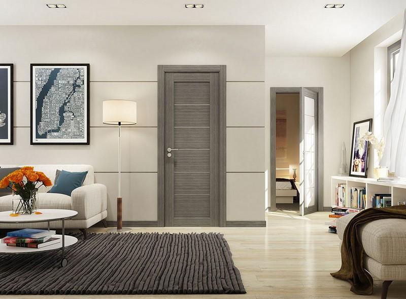 серый цвет дверей фото
