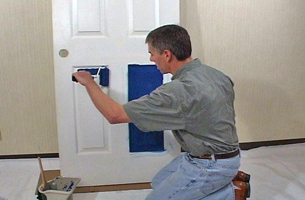 Технология покраски деревянных дверей