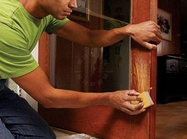 как реставрировать старую дверь фото
