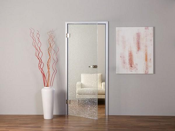 Маятниковые стеклянные двери фото