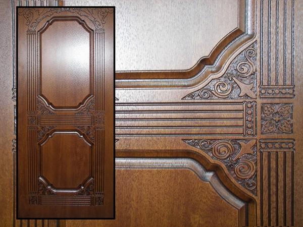 Деревянные накладки на металлическую дверь фото