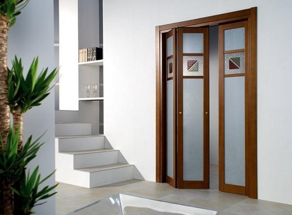 межкомнатные раздвижные двери гармошка