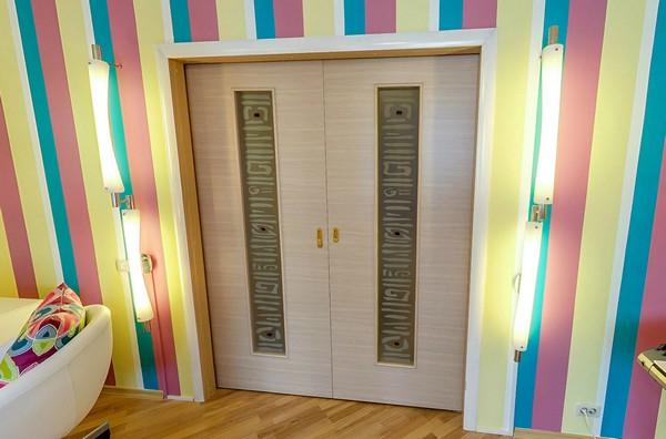 Кассетные раздвижные двери фото