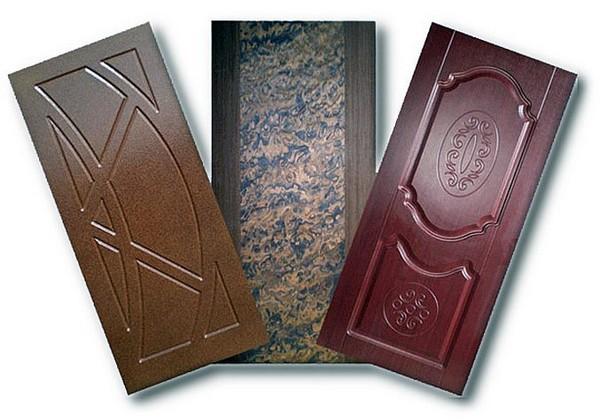 накладки мдф на металлические двери фото
