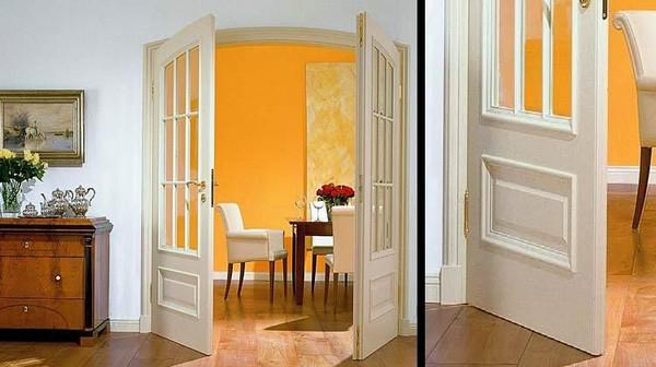 двери двойные распашные межкомнатные фото