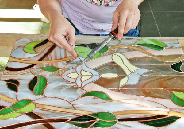 Имитация стекла как сделать