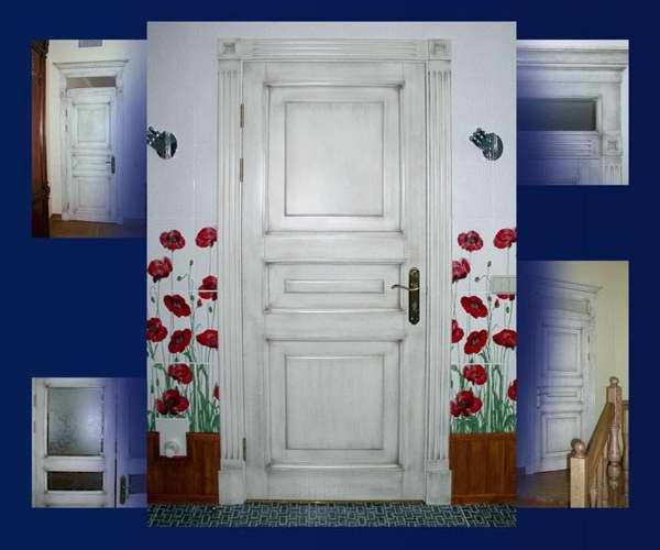 как украсить старую дверь своими руками фото