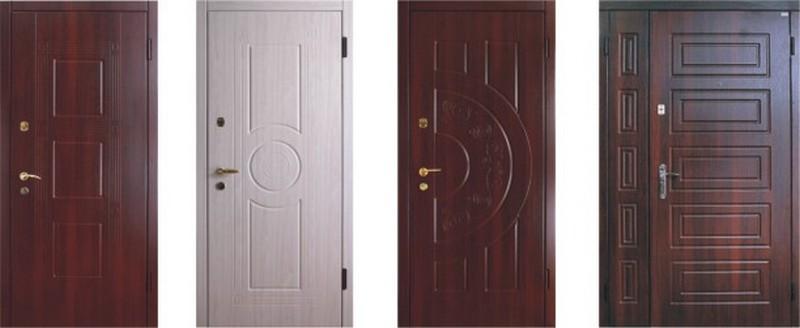 отделка входной двери фото