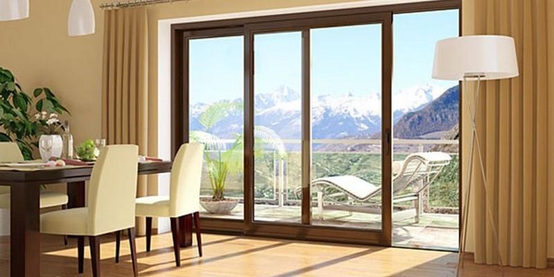 раздвижные балконные двери фото
