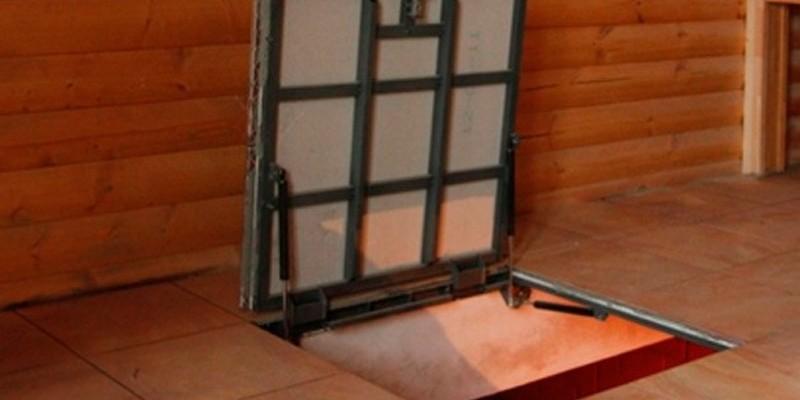 чердачный люк металлический фото