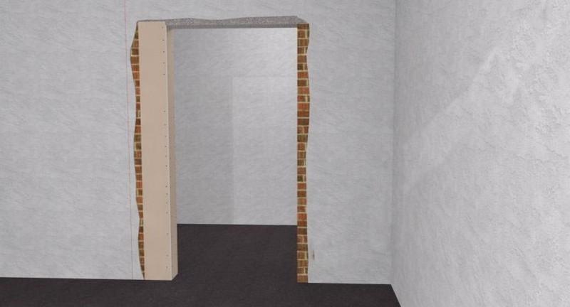 как уменьшить дверной проем